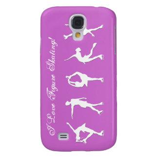 I Love Figure Skating Script- Lilac Phone Case Galaxy S4 Cover
