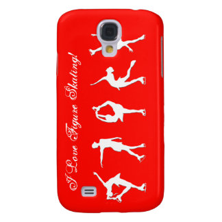 I Love Figure Skating Script - Red  Galaxy S4 Case