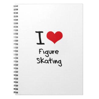I Love Figure Skating Spiral Note Books