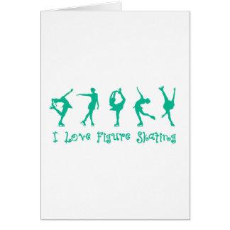 I love figure skating - teal card