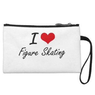 I love Figure Skating Wristlet Purse