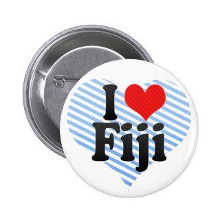 I Love Fiji 2 Inch Round Button