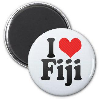 I Love Fiji 2 Inch Round Magnet