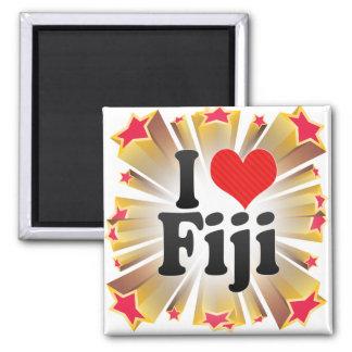 I Love Fiji 2 Inch Square Magnet