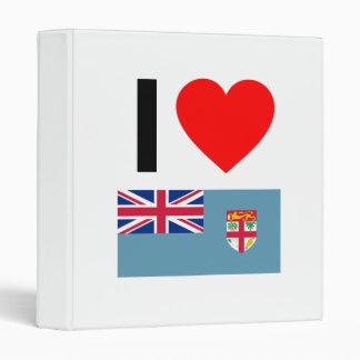 i love fiji vinyl binder