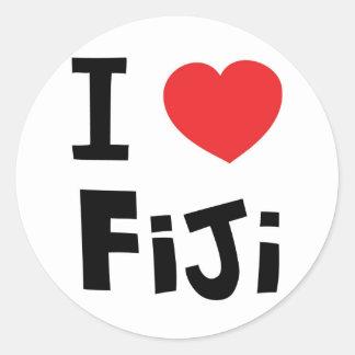 I love Fiji Classic Round Sticker