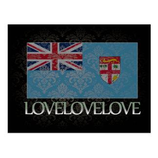 I love Fiji Cool Postcard