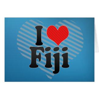I Love Fiji Greeting Card