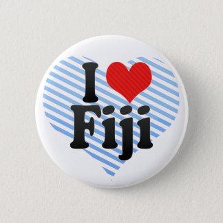 I Love Fiji Pinback Button