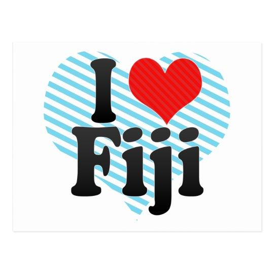 I Love Fiji Postcard