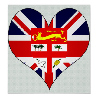 I Love Fiji Poster