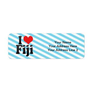 I Love Fiji Return Address Label