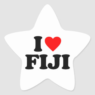 I LOVE FIJI STAR STICKER