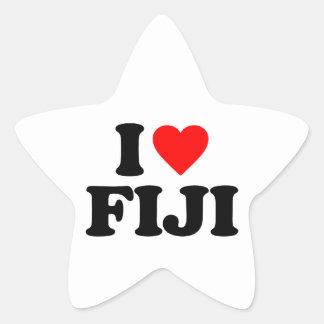 I LOVE FIJI STAR STICKER