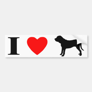 I Love Fila Brasileiros Bumper Sticker