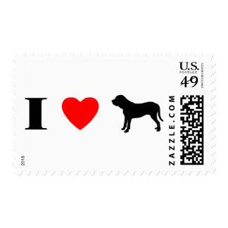 I Love Fila Brasileiros Postage Stamp