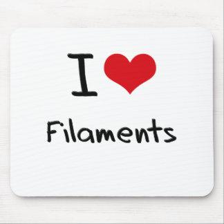I Love Filaments Mouse Pad