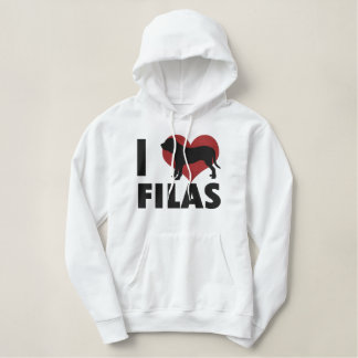 I Love Filas Embroidered Hoodie