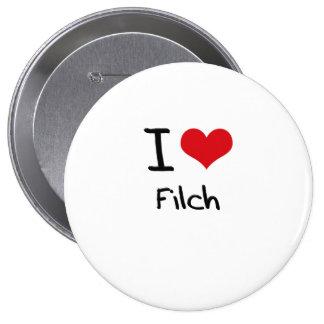 I Love Filch Pinback Buttons