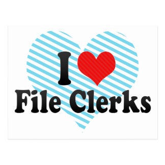 I Love File Clerks Postcard