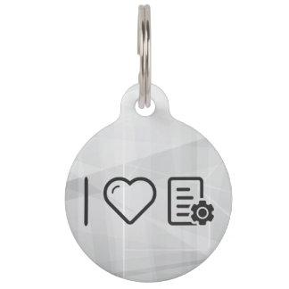 I Love File Configs Pet ID Tags