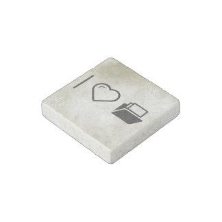I Love File Shelves Stone Magnet