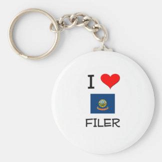 I Love FILER Idaho Key Chains