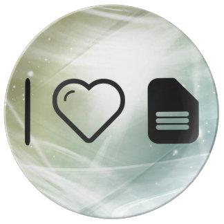 I Love Files Porcelain Plate
