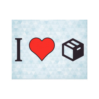 I Love Filing Cabinets Canvas Print