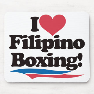 I Love Filipino Boxing Mouse Pad