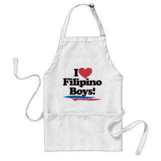 I Love Filipino Boys Adult Apron