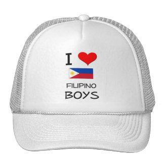I Love Filipino Boys Mesh Hat