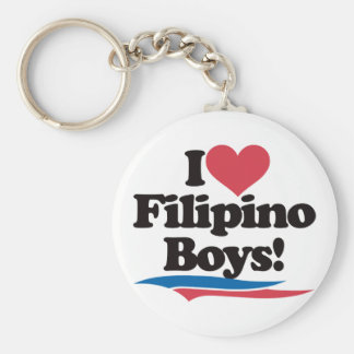 I Love Filipino Boys Keychain