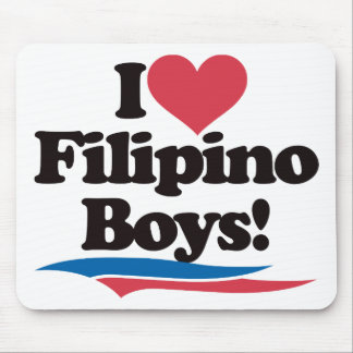 I Love Filipino Boys Mouse Mat