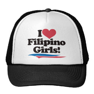I Love Filipino Girls Trucker Hat