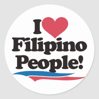 I Love Filipino People Classic Round Sticker