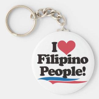 I Love Filipino People Keychain