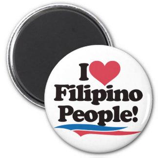 I Love Filipino People Magnet