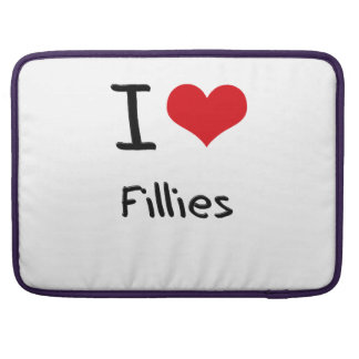 I Love Fillies Sleeves For MacBook Pro