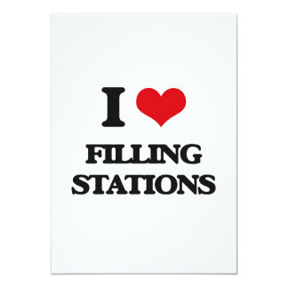I love Filling Stations 5x7 Paper Invitation Card