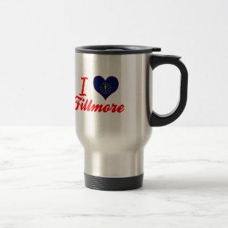 I Love Fillmore, Indiana 15 Oz Stainless Steel Travel Mug