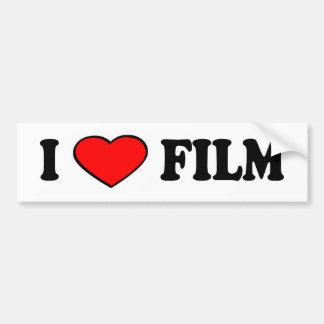 i love film bumper car bumper sticker