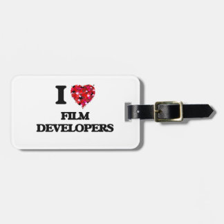 I Love Film Developers Luggage Tags
