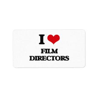 I love Film Directors Personalized Address Labels