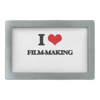 I Love Film-Making Rectangular Belt Buckles