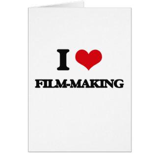 I Love Film-Making Greeting Card