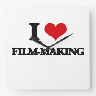 I Love Film-Making Wall Clock