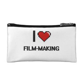 I Love Film-Making Digital Retro Design Makeup Bags