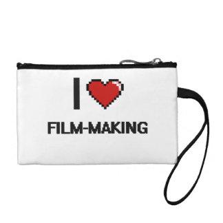 I Love Film-Making Digital Retro Design Change Purse