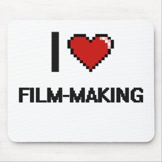 I Love Film-Making Digital Retro Design Mouse Pad